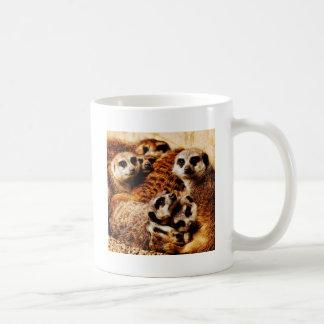 Familie von Meerkats Kaffeetasse