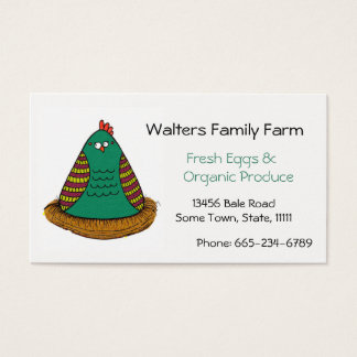 Familien-Bauernhof-Visitenkarte-Huhn-Kunst Visitenkarte
