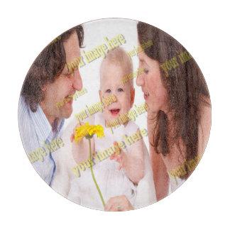 Familien-Bild-Erinnerungens-Foto-Schablone Schneidebrett