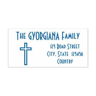 Familien-Familienname + Adresse + Permastempel