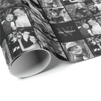 Familien-Foto-Collage Geschenkpapier