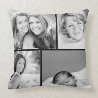 Familien-Foto-Collage Zierkissen