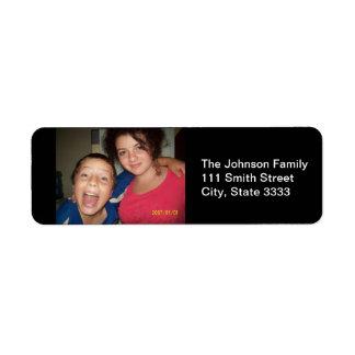 Familien-Foto-kundenspezifische Adressen-Etiketten Rücksende Aufkleber