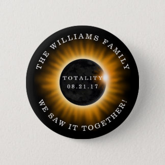 Familien-Gesamtheits-Solareklipse personalisiert Runder Button 5,1 Cm