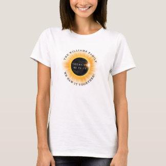 Familien-Gesamtheits-Solareklipse personalisiert T-Shirt