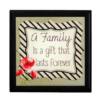 Familien-inspirierend Zitat Große Quadratische Schatulle