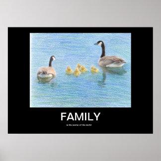 Familien-motivierend Plakat