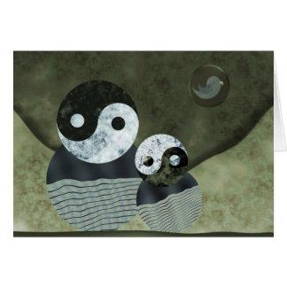 Familien-Porträt für den Vatertag Karte