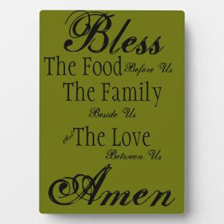 Familien-Segen-Plakette Fotoplatte