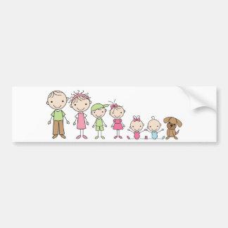 Familien-Strichmännchen-Autoaufkleber Autoaufkleber
