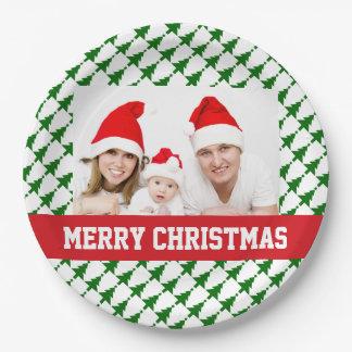Familien-WeihnachtsFoto-Party-Teller Pappteller