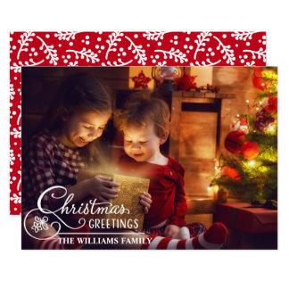 Familien-WeihnachtsFoto-weißes Karte