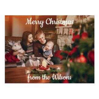 Familien-Weihnachtsgruß Postkarte