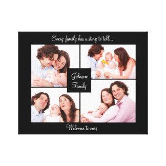 Familien-Zitat-Foto-Collagen-Wand-Kunst Leinwanddruck