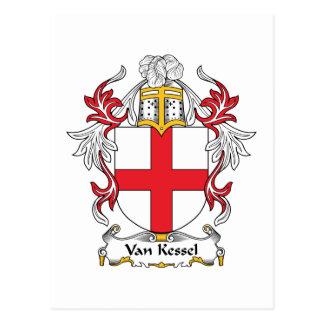 Familienwappen Vans Kessel Postkarte