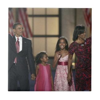 Familienwelle Barak Obama Keramikfliese