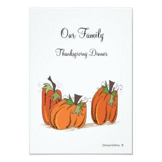Familyn Erntedank Abendesseneinladung Karte