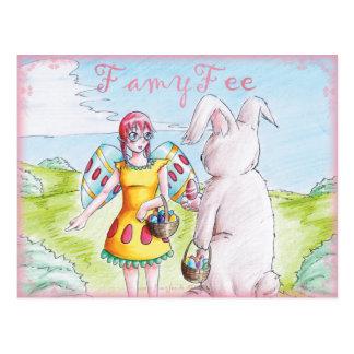Famy Fee Postkarte - Osterfee