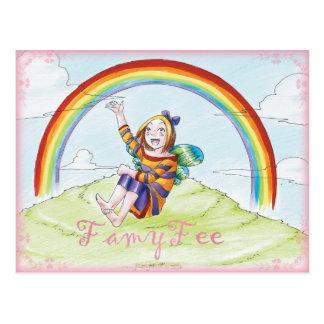 Famy Fee Postkarte - Regenbogenfee