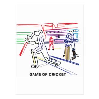 Fan der Spiele des Krickets Postkarte