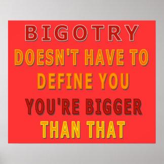 Fanatismus muss Sie definieren nicht Poster