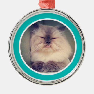 Fangsy #2 Verzierung Rundes Silberfarbenes Ornament