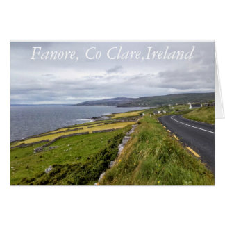 Fanore, Co Clare, Irland Karte