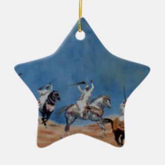 Fantasia Rennen Keramik Stern-Ornament