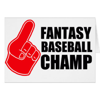 Fantasie-Baseball-Champion Karte