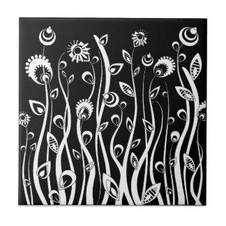 Fantasie-Blumen Kleine Quadratische Fliese