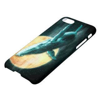 Fantasie-Buckel-Wal, der zum Mond fliegt iPhone 8/7 Hülle
