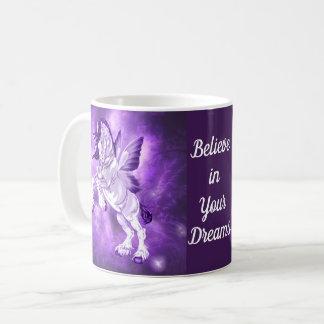 Fantasie Fee Winged Clydesdale Pferd Kaffeetasse