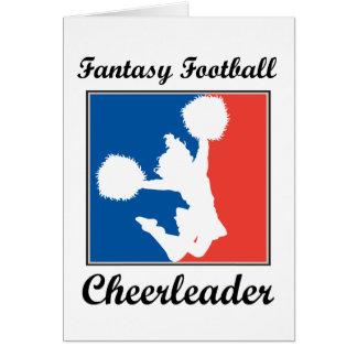 Fantasie-Fußball-Cheerleader Karte