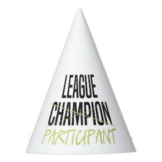 Fantasie-Fußball-Liga-Teilnehmer Partyhütchen