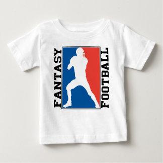 Fantasie-Fußball, rotes weißes und blaues Logo Baby T-shirt