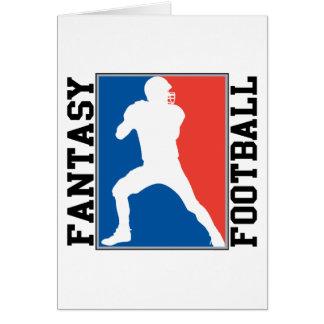 Fantasie-Fußball, rotes weißes und blaues Logo Karte