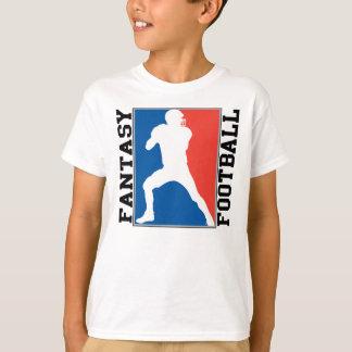 Fantasie-Fußball, rotes weißes und blaues Logo T-Shirt