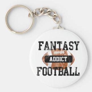 Fantasie-Fußball-Süchtiger Schlüsselanhänger