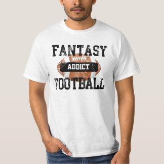 Fantasie-Fußball-Süchtiger, Schmutz-Uni-Art T-Shirt