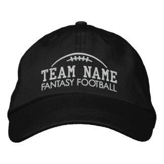 Fantasie-Fußballfan-Gang mit Ihrem Team-Namen Bestickte Baseballkappe