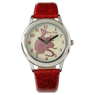 Fantasie-Geschöpfkunst des niedlichen roten Armbanduhr