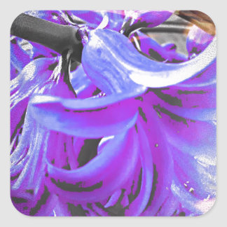 Fantasie in Blau-Violett Quadratischer Aufkleber