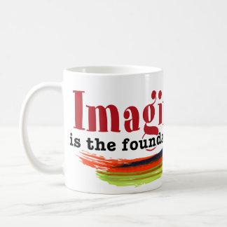Fantasie ist die Grundlage der Wirklichkeit Kaffeetasse