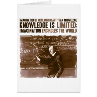 Fantasie ist wichtiger als Wissen Karte