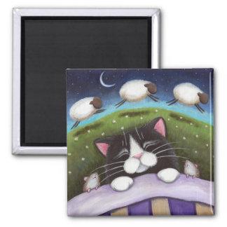 Fantasie-Katzen-und Mäusekunst-Magnet