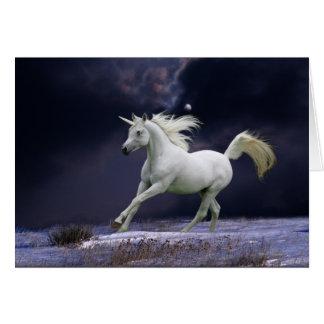 Fantasie-Pferde: Einhorn Karte