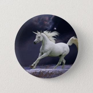 Fantasie-Pferde: Einhorn Runder Button 5,1 Cm