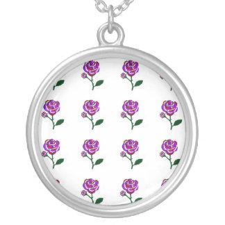 Fantasie-Rose, gemischte Farbhalskette Halskette Mit Rundem Anhänger