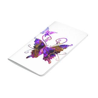 Fantasie-Schmetterlinge Taschennotizbuch