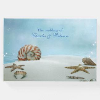Fantasie-Strand-Thema-Hochzeits-Gast-Buch Gäste Buch